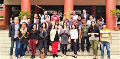 Group picture during the first national conference of the project in Quito, Ecuador this January together with stakeholder, NGO representatives and local technicians of the indigenous communities.